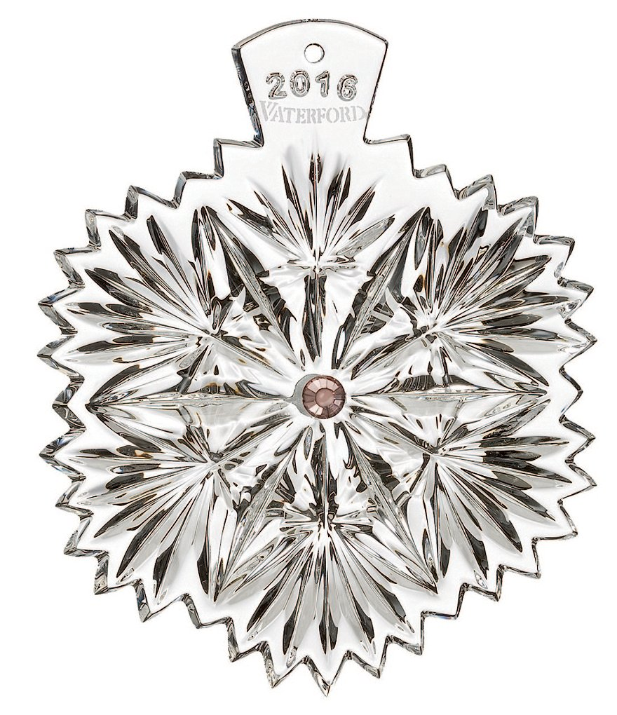 Waterford Crystal Snowflake Wishes Serenity Ornament 2016