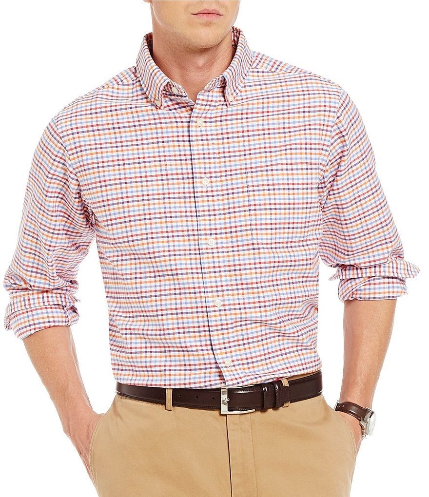 Cremieux Long-Sleeve Graph Oxford Woven Shirt