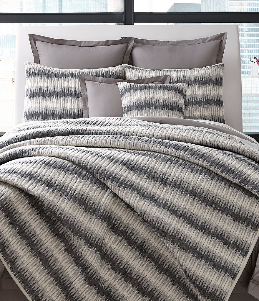 Moderne by Noble Excellence Affinity Ikat-Striped Cotton Quilt Mini Set