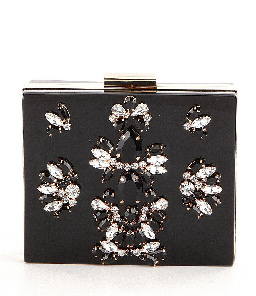 Kate Landry Jeweled Frame Clutch