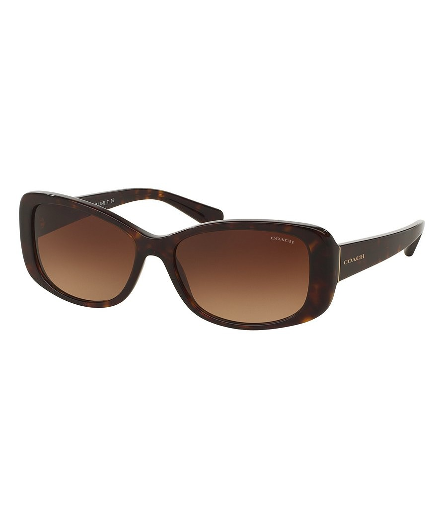 COACH SIMPLY CHIC GRADIENT RECTANGLE SUNGLASSES