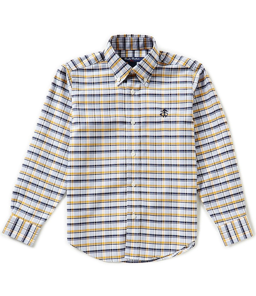 Brooks Brothers Little/Big Boys 4-20 Long-Sleeve Non-Iron Plaid Oxford Shirt