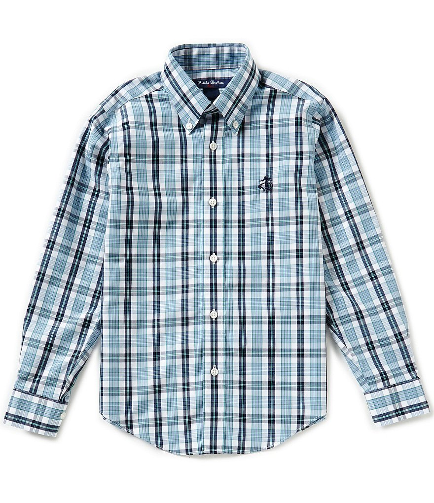 Brooks Brothers Little/Big Boys 4-20 Plaid Long-Sleeve Woven Shirt