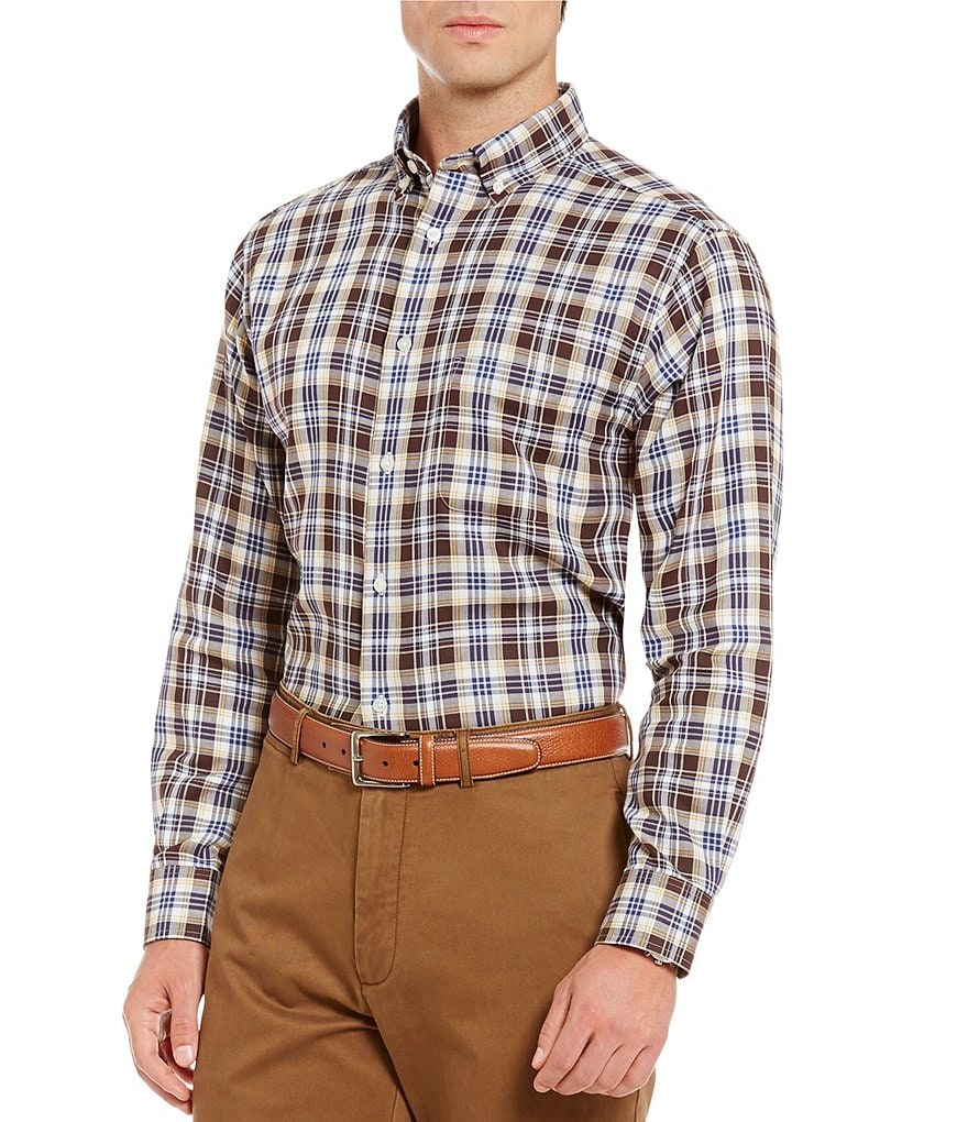Daniel Cremieux Signature Long-Sleeve Double-Face Plaid Woven Shirt