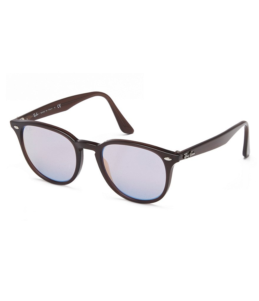 Ray-Ban Highstreet Mirrored Round Aviator Sunglasses