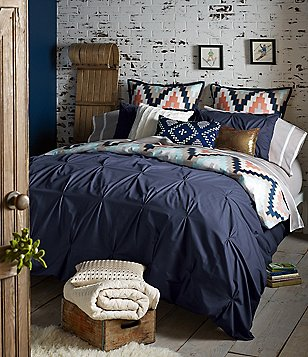 Blissliving HOME Harper Reversible Pintucked & Metallic Tribal Sateen Duvet Mini Set