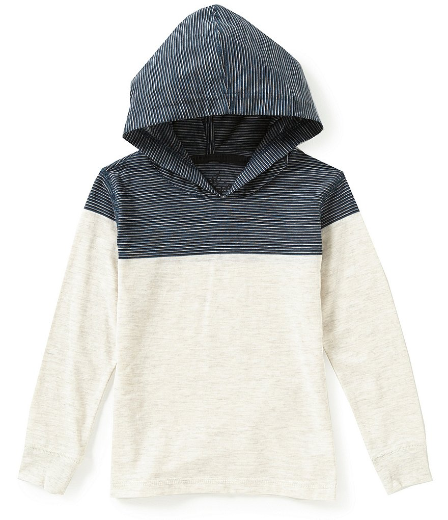 First Wave Little Boys 2T-7 Striped Hoodie