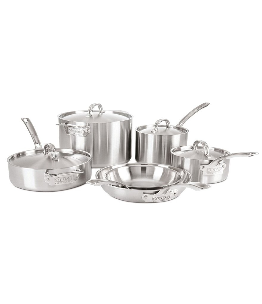Viking Professional 5-Ply Satin-Finish 10-Piece Cookware Set