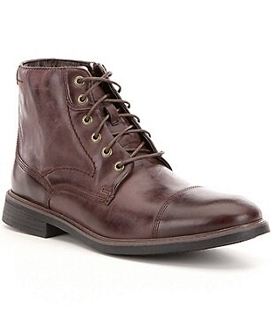 Rockport Men´s Tailoring Guide Leather Cap Toe Lace Up Boots