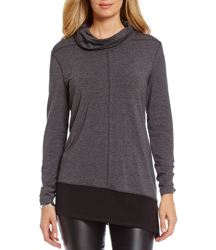 Westbound Jersey Cowl Neck Top