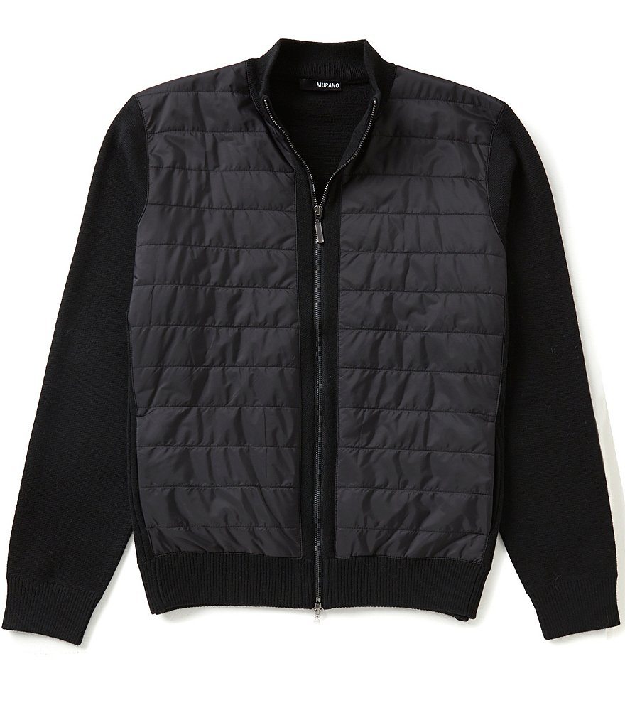 Murano Nylon Quilted Mock Neck Full Zip Jacket