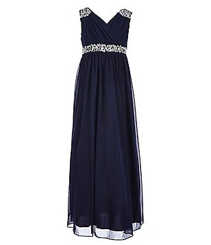 Xtraordinary Big Girls 7-16 Beaded Maxi Dress