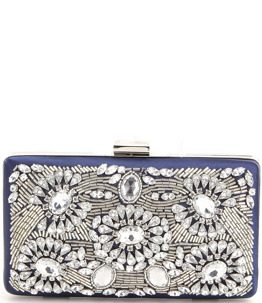 Kate Landry Beaded Square Frame Clutch