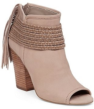 BCBGeneration Cinder Peep-Toe Block Heel Booties