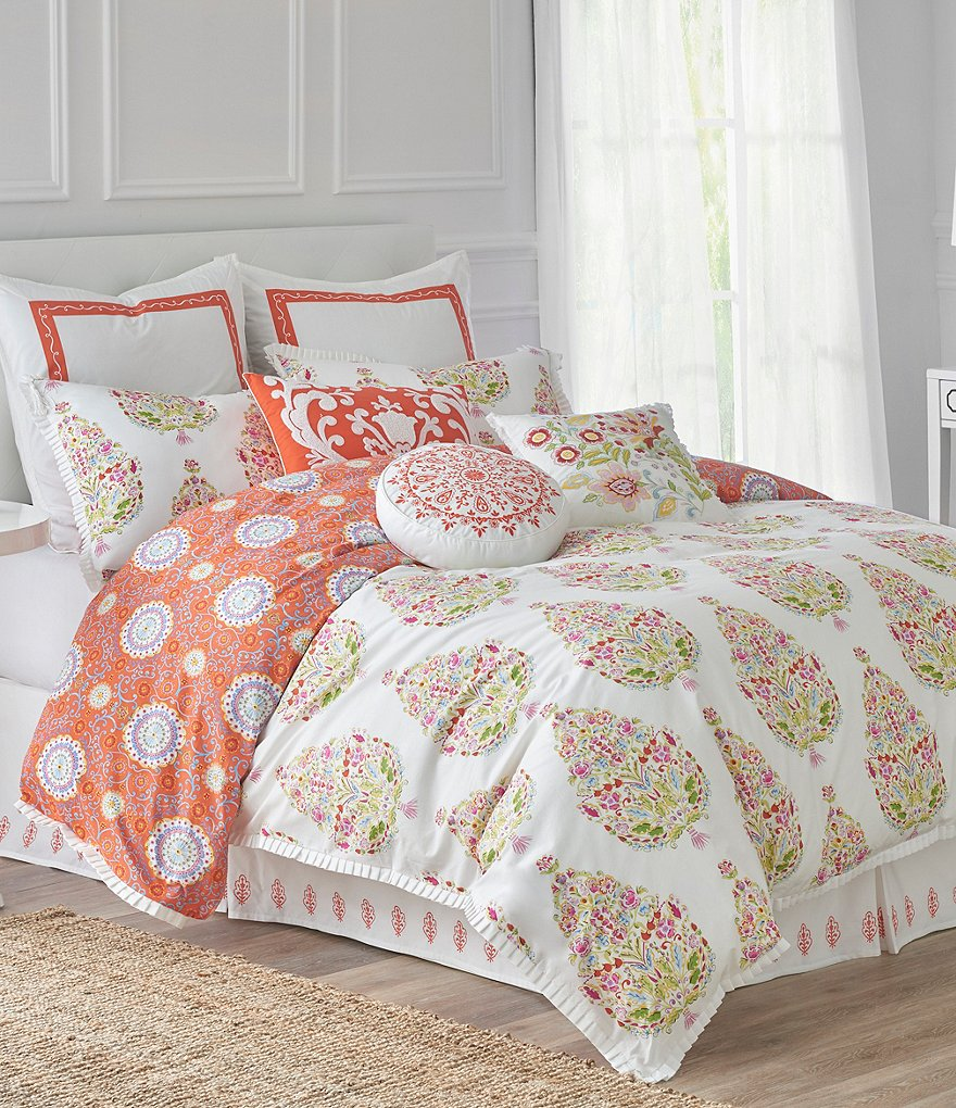 Dena Home Santana Floral Medallion Cotton Comforter Set