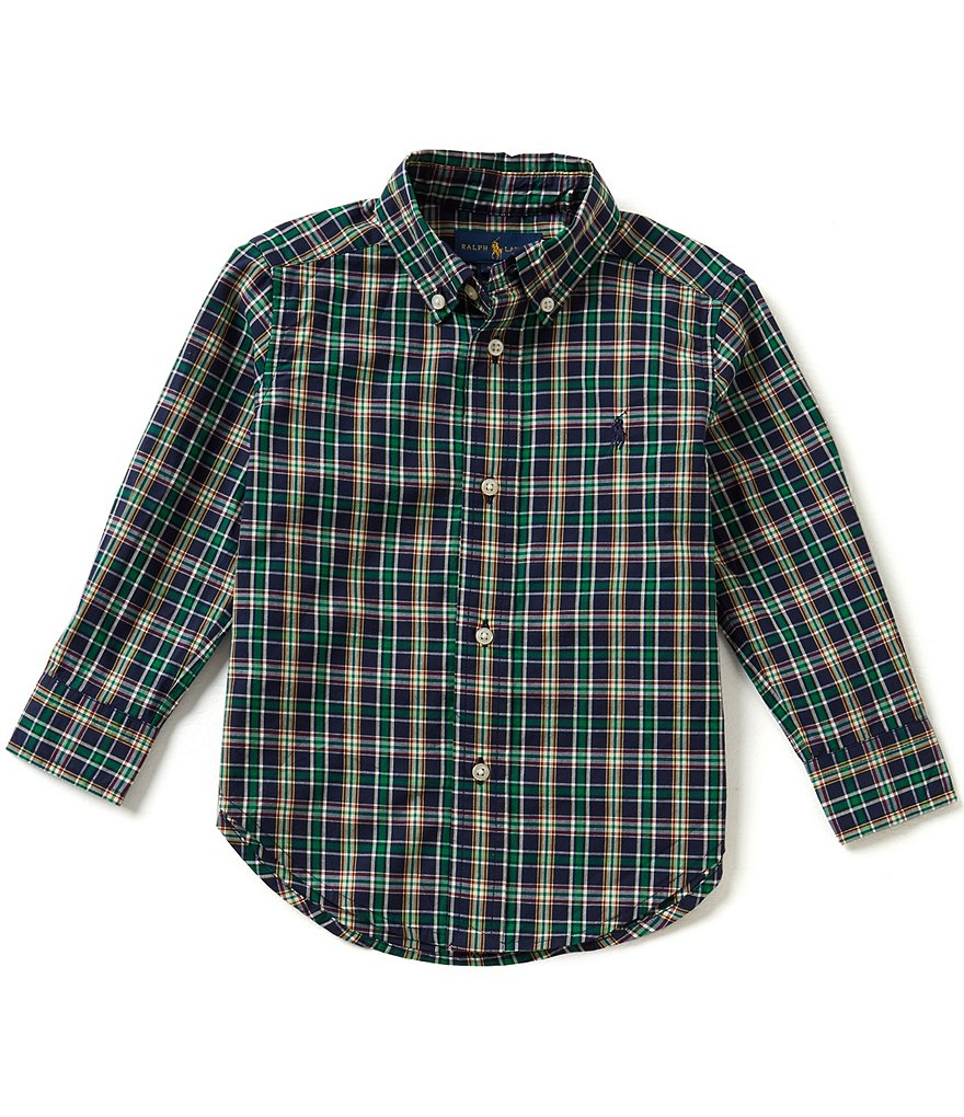 Ralph Lauren Childrenswear Little Boys 2T-7 Classic Plaid Long-Sleeve Shirt