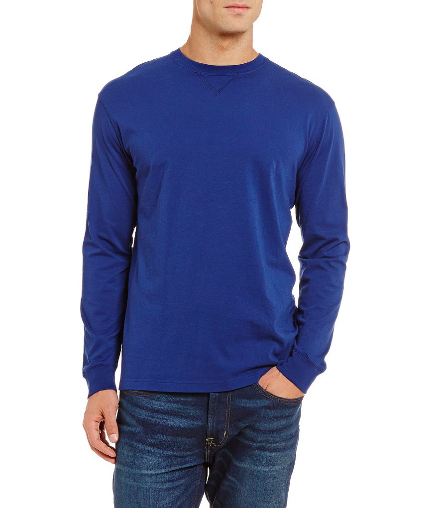 Cremieux Long-Sleeve Knit Crewneck Tee