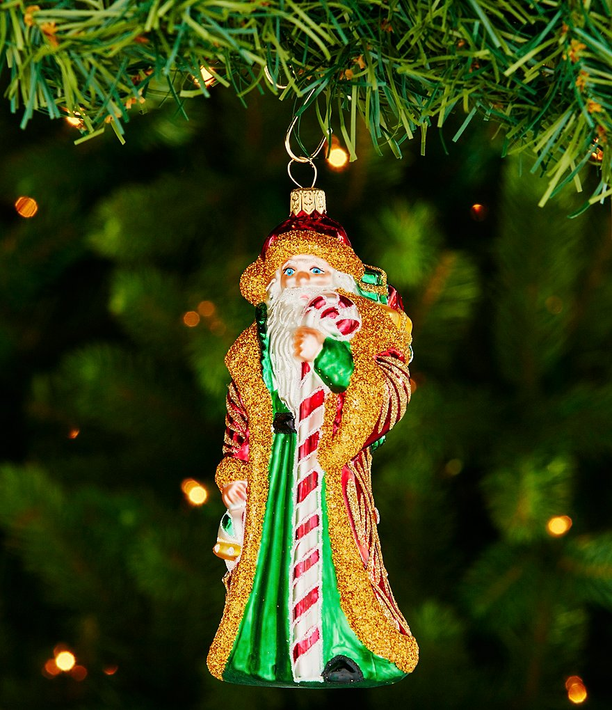 Waterford 2016 Nostalgic Collection Holiday Heirlooms Candy Cane Santa Ornament