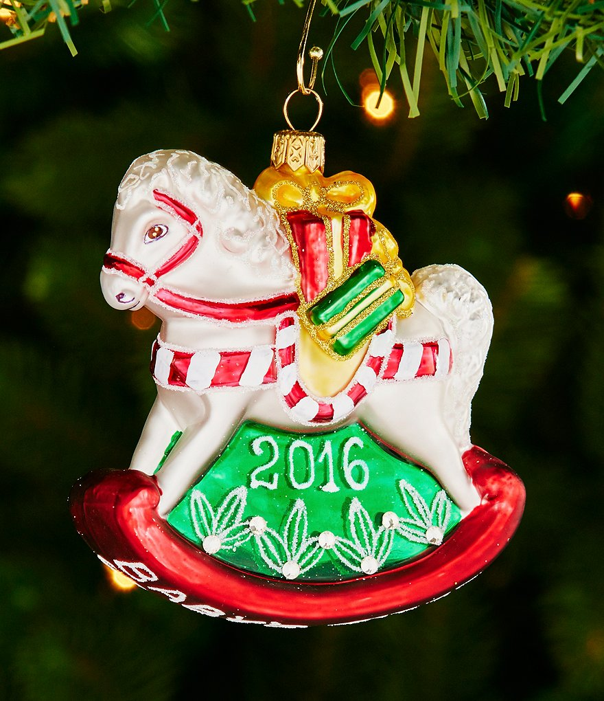 Waterford 2016 Nostalgic Collection Holiday Heirlooms Baby´s First Rocking Horse Ornament