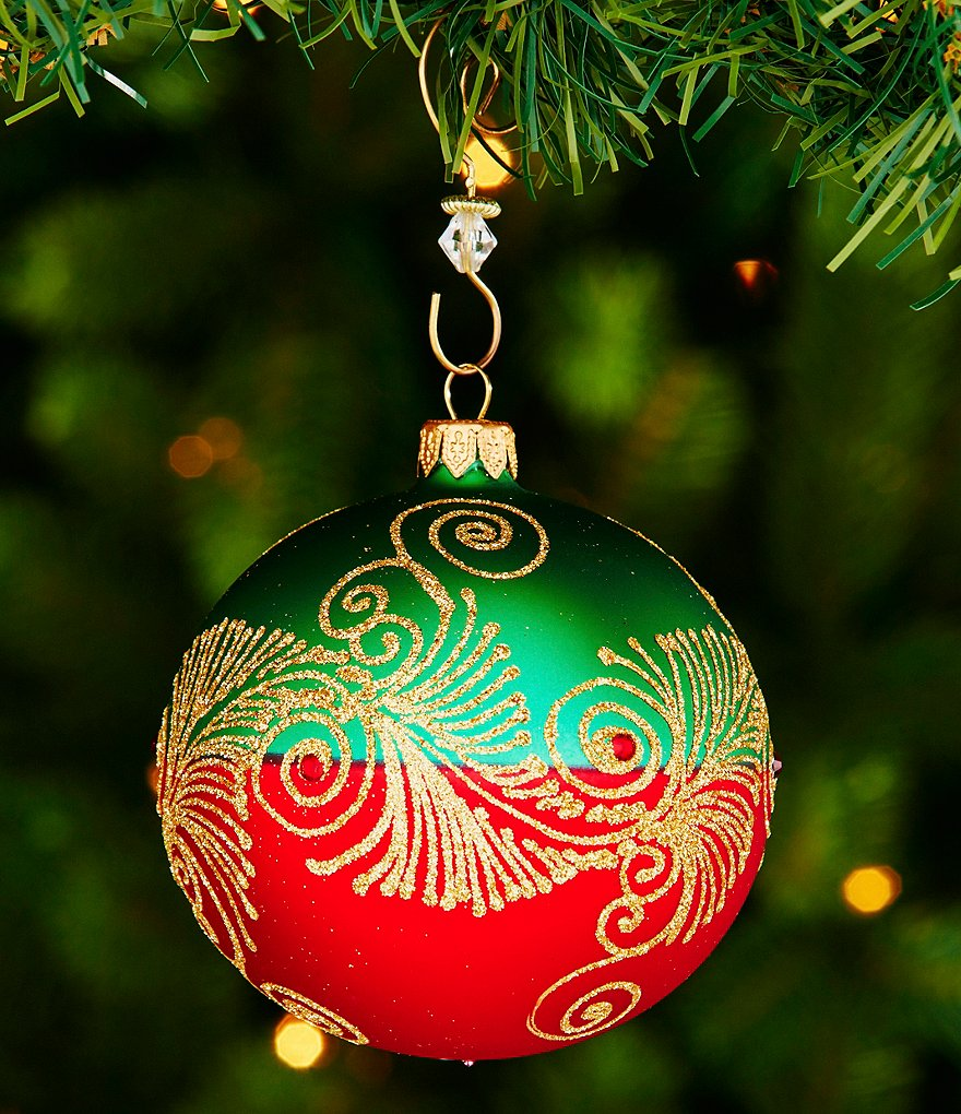 Waterford 2016 Nostalgic Collection Holiday Heirlooms Peacock Nouveau Ball Ornament