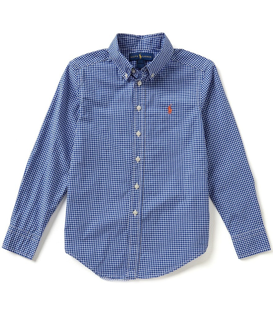 Ralph Lauren Childrenswear Big Boys 8-20 Gingham-Checked Poplin Shirt