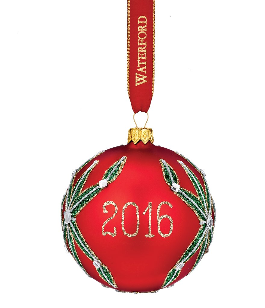 Waterford 2016 Nostalgic Collection Holiday Heirlooms Lismore Ball Ornament
