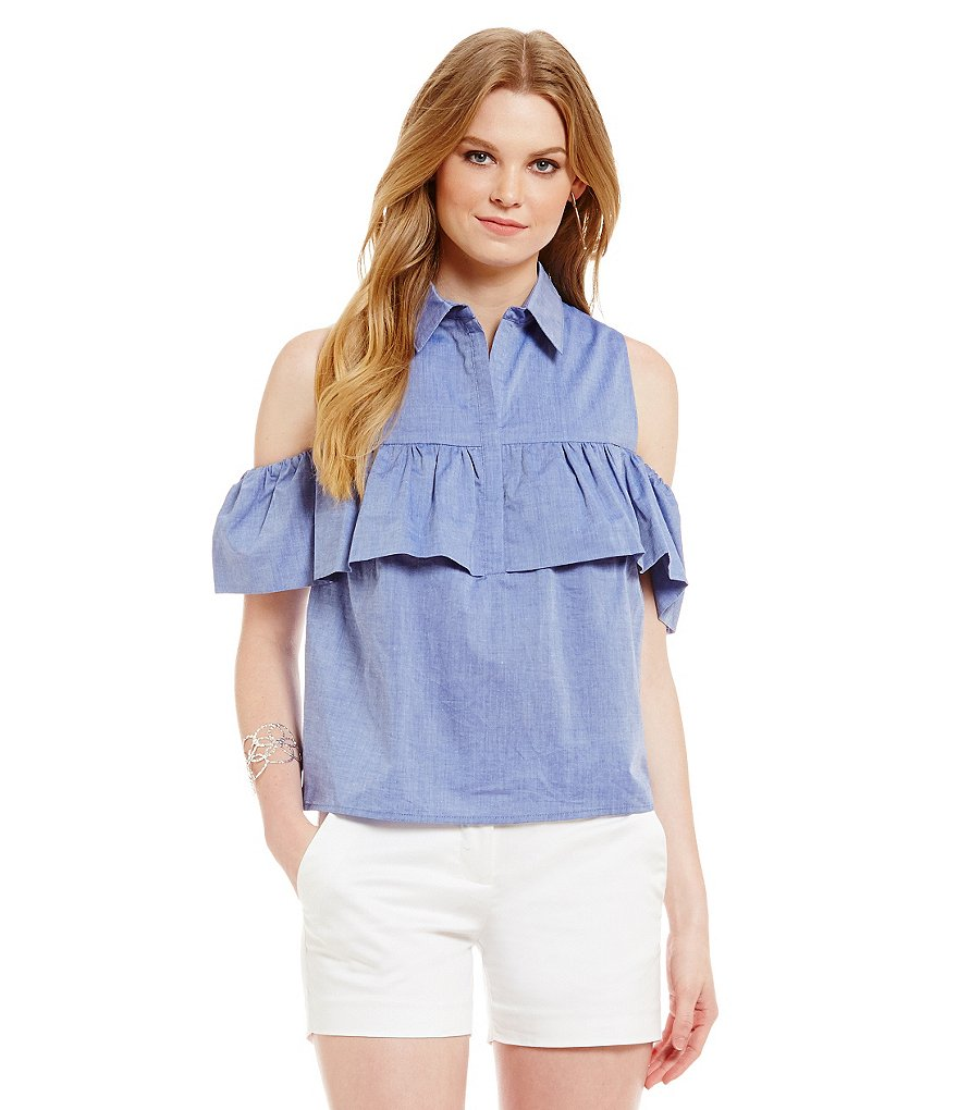 Cremieux Tara Cold-Shoulder Blouse