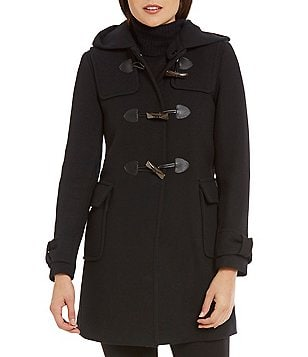 kate spade new york A-Line Detachable Hood Wool Parka