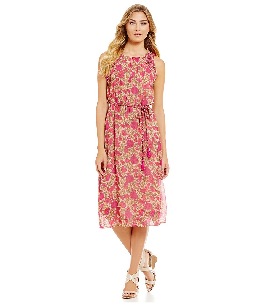 Sigrid Olsen Signature Floral Print Midi Dress