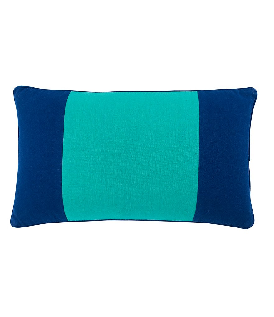 Southern Tide Prep School Colorblocked Cotton Feather Breakfast Pillow