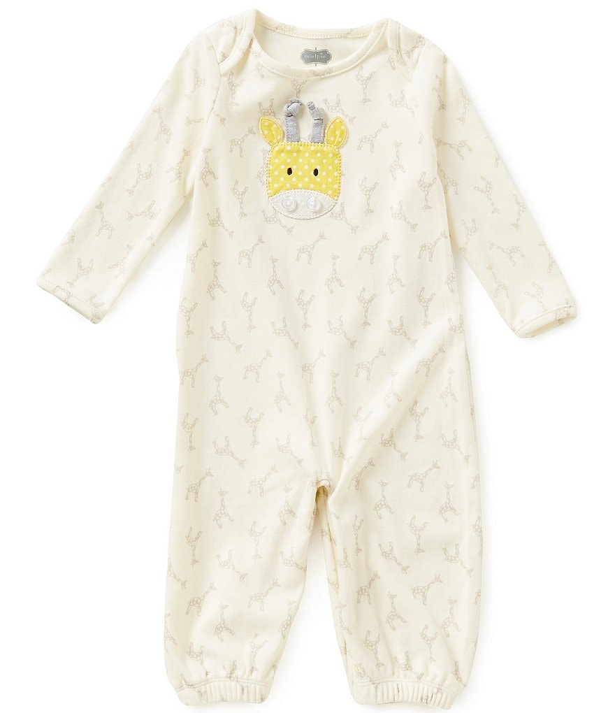 Mud Pie Baby 3-6 Months Giraffe-Printed Convertible Sleep Gown