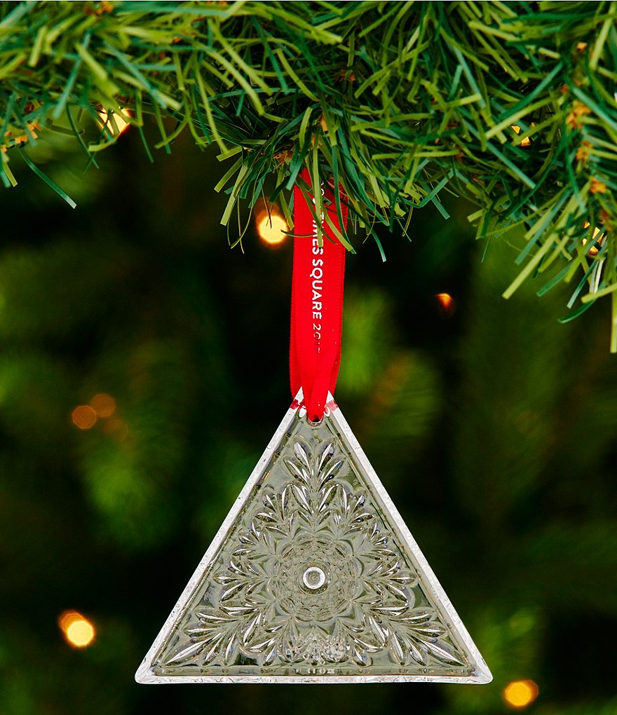 Waterford 2017 Times Square Collection Crystal Triangle Ornament