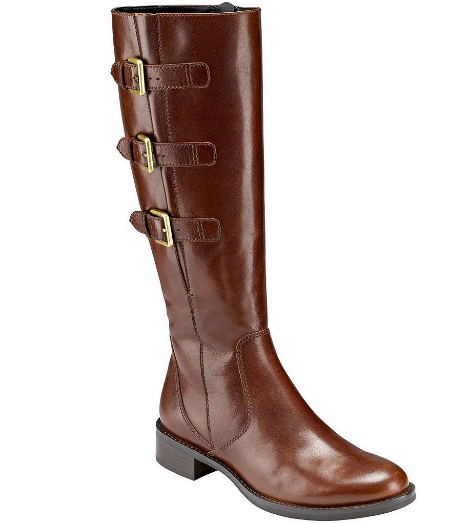 ECCO Hobart Buckle Detail Riding Leather Boots
