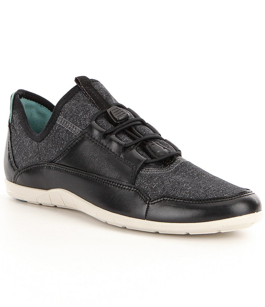 ECCO Bluma Sport Leather and Stretch Textie Toggle Slip-On Sneakers