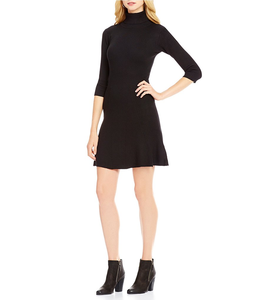 Cremieux Caila Turtleneck 3/4 Sleeve Sweater Dress