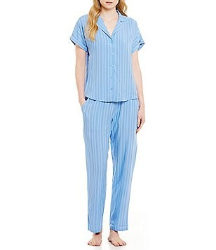 Nottibianche Striped Chambray Pajamas
