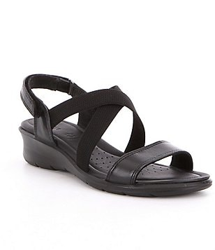ECCO Women´s Felicia Leather & Elastic Casual Hook-and-Loop Sandals
