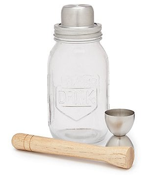 Southern Living Mason Jar Cocktail Shaker Set
