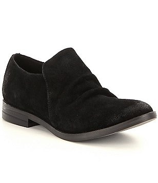Eileen Fisher Ale Washed Sport Suede Slip On Loafers