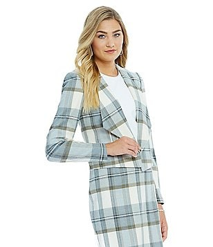 Katherine Kelly Talia Plaid Jacket
