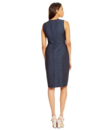 Calvin klein denim dress zipper