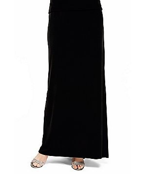 Alex Evenings Fishtail Back Velvet Long Skirt