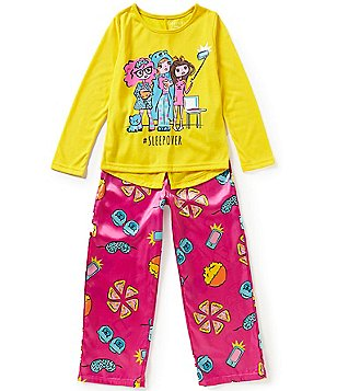 Komar Kids Little/Big Girls 4-16 Sleepover Pajama Top & Pants Set