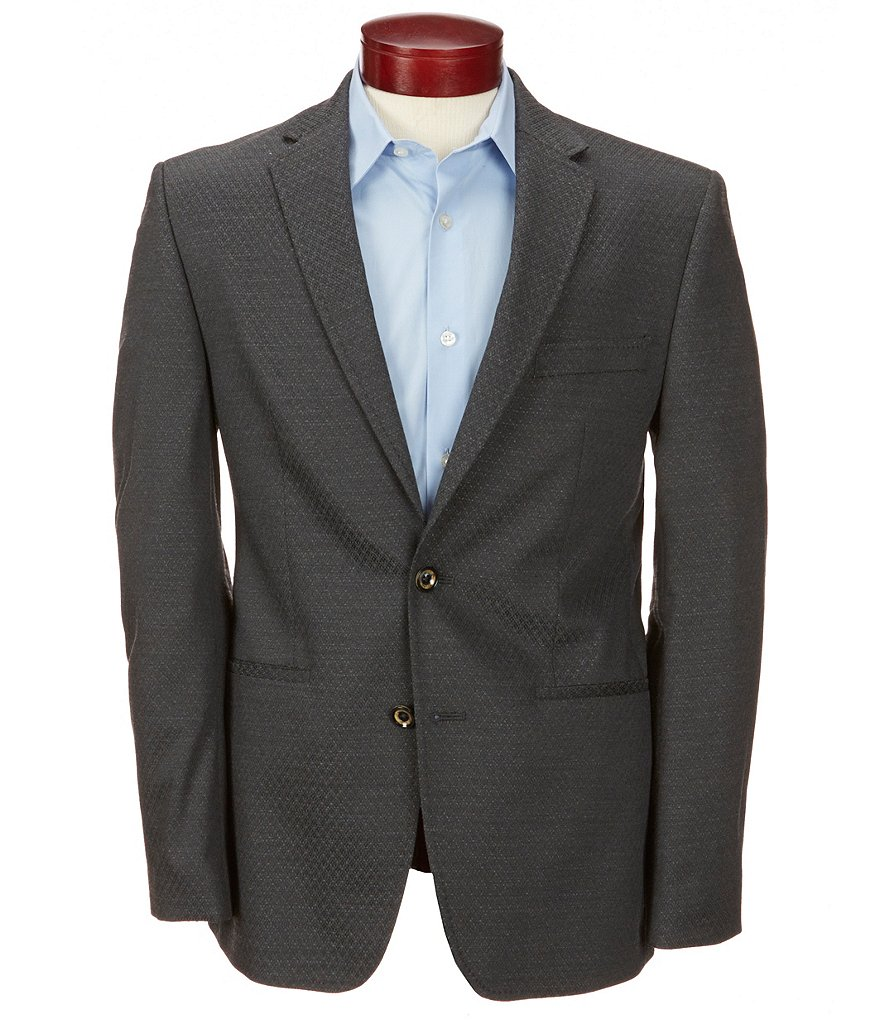 Murano Slim-Fit Textured Dobby Blazer