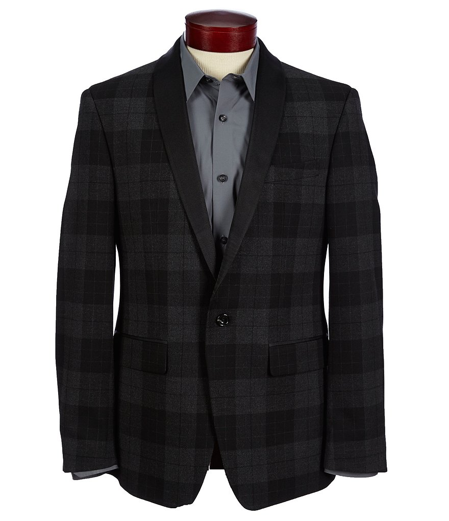 Murano Shawl Plaid Slim-Fit Blazer