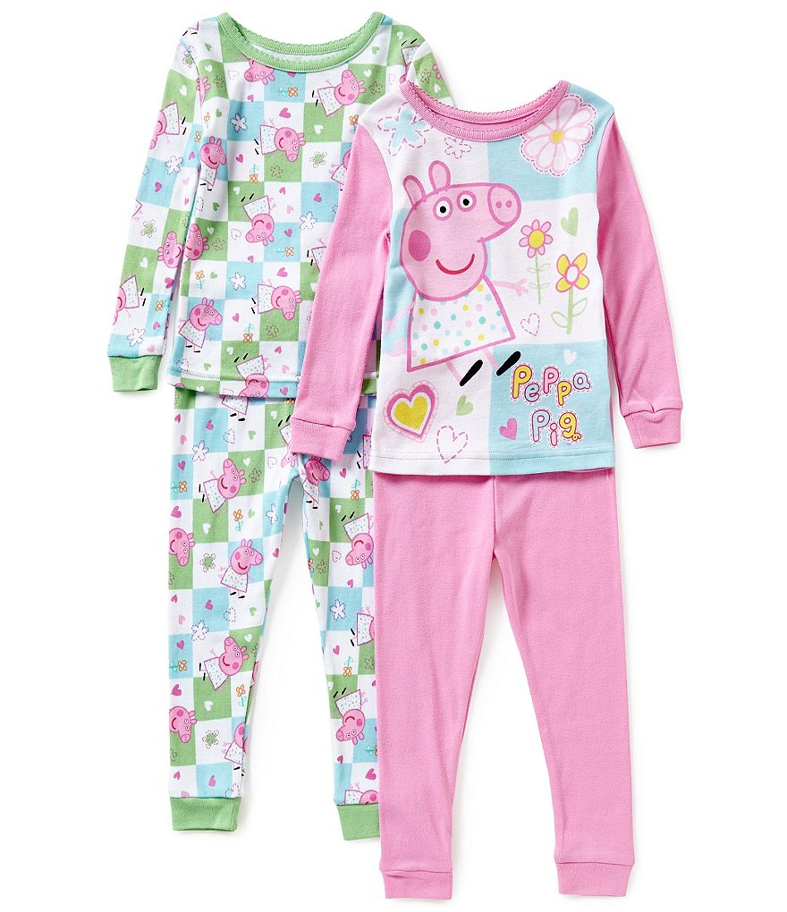 Komar Kids Little Girls 2T-4T Peppa Pig 4-Piece Pajama Set