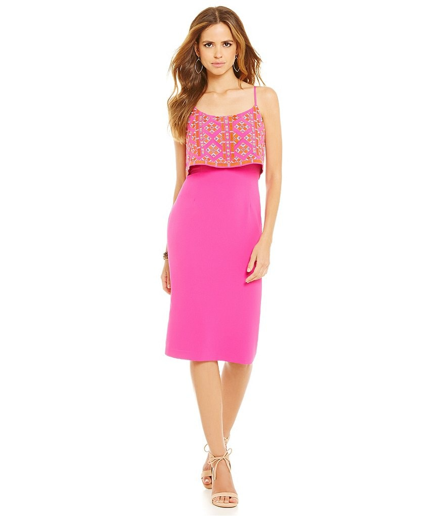 Gianni Bini Julie Embroidered Popover Dress