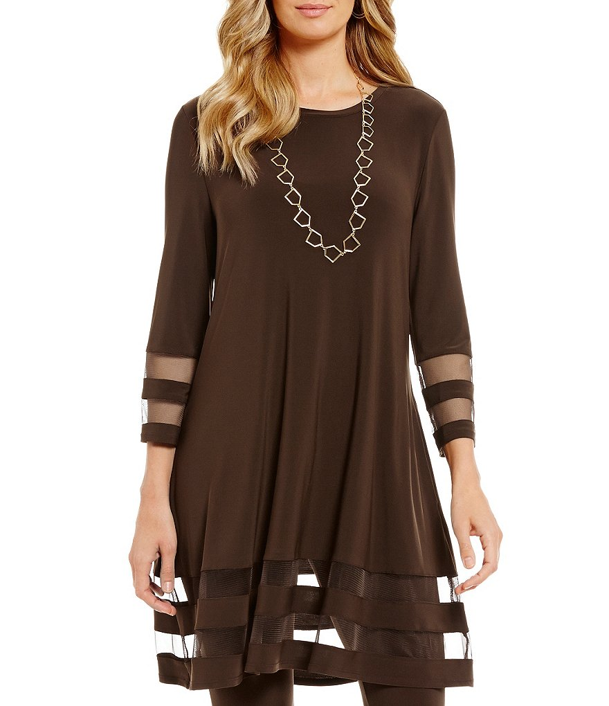 IC Collection Mesh Insert Tunic Top