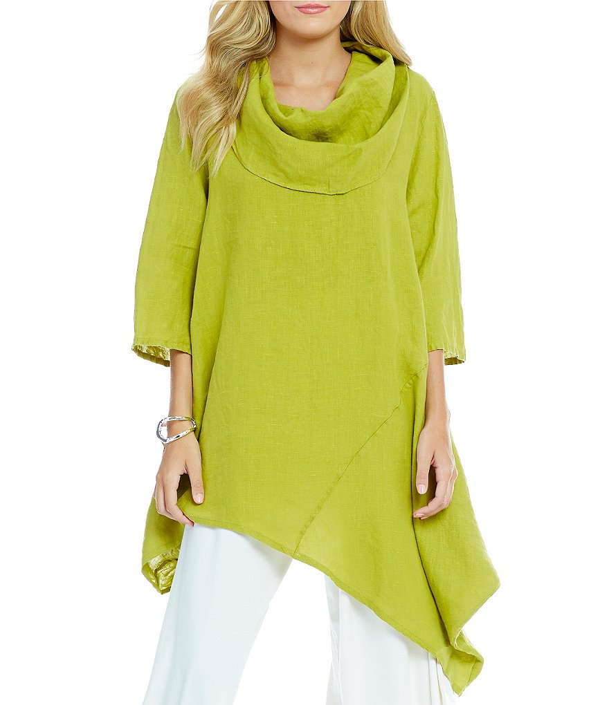Bryn Walker Light Linen Noma Asymmetrical Hem Tunic