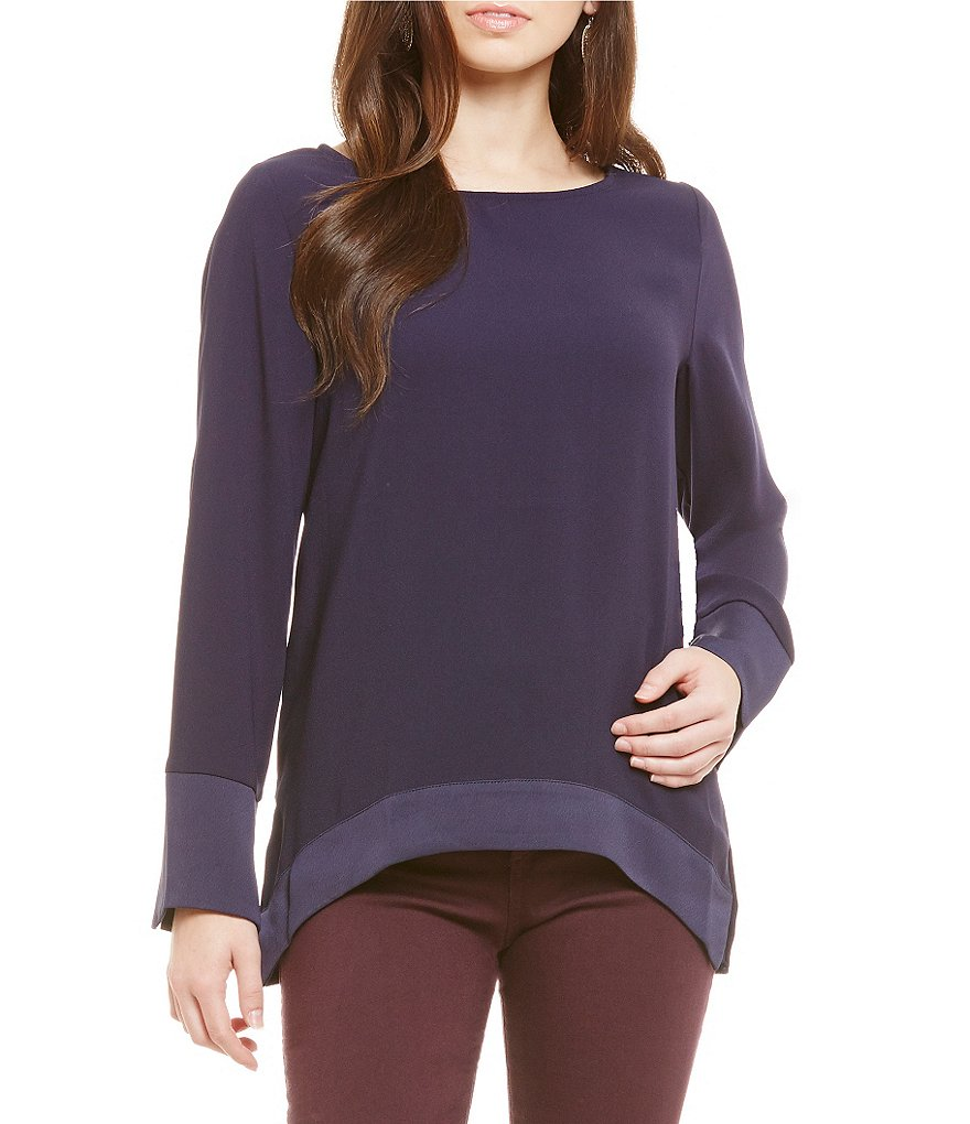 Nicola Boat Neck Long Sleeve Blouse